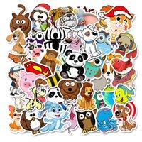 50 قطعة / الوحدة بالجملة الكرتون لطيف vsco الحيوانات kawaii ملصقات للماء ملصقا للأطفال اللعب زجاجة الأمتعة دفتر السيارات الشارات