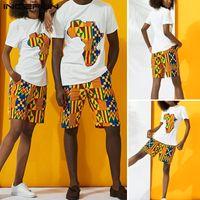 Tute da uomo Incerun Mens Summer Set Summer Stampato T-shirt manica corta T-shirt Casual Shorts 2 pezzi Fashion Coppia abiti Stile etnico Plus Size