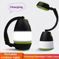 USB المحمولة LED ضوء التخييم طية مشاعل الجدول مصباح خيمة / غرفة / القراءة ليلة إضاءة خارجية سيارة مشحونة