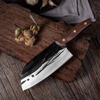 Edelstahl geschmiedet Küchenchef Messer Beruf chinesisches Messer scharfe Klinge Cleaver Dienstprogramm Santoku Chopper Gemüsemesser Großhandel New