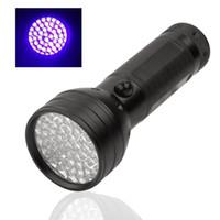 Портативный 51LED UV LED фиолетовый свет черный фонарик алюминиевый корпус 365-410nm Подделка Обнаружен факел лампа освещения