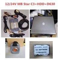 Melhor Laptop Qualidade MB ESTRELA C3 Diagnostic Tool Com Software HDD MB C3 Pro Diagnóstico Multiplexer Com D630 diagnóstico completo Kit Automob 6i9C #