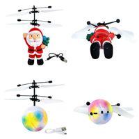 Flyings Leksaker Julklapp Santa Flying Ball Lysous Barn Flygbollar Elektronisk Infraröd Induktion Flygplan Fjärrkontroll Toy LED Light