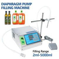 2ml-5000ml bomba de diafragma pequena garrafa Filler Juice tinta Perfume Água Óleo bebidas Vial líquido máquina de enchimento semi-automático