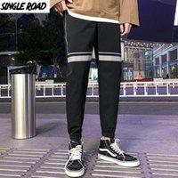 SingleRoad Мужской Joggers Мужчины шаровары Мужчина Мода Японская черные Уличные штаны Брюки Мужская Sweatpants Man