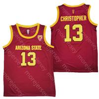 New 2020 Arizona State Sun Devils ASU كرة السلة جيرسي NCAA كلية 13 كاليب كريستوفر أحمر أبيض جميع مخيط والتطريز