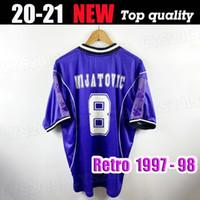 # 7 Raul R.Carlos Hierro Redondo Suker Sedorf 1997 1998 ريال مدريد الرجعية لكرة القدم جيرسي 97 98 خمر كرة القدم قميص كلاسيكي camiseta