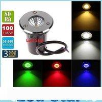 NUOVO COB 3W 12V DC LED sotterraneo illumina la lampada IP67 impermeabilizzano Giardino Luci antiurto ad alta potenza vetro temperato