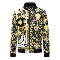 2020 Outono Inverno Moda Luxo Nova Versão Quente da Jaqueta de Inverno Trend Slim Classic Madusa Casual Jaqueta dos homens