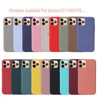 Yüksek Kaliteli Mat Silikon Telefon Kılıfları iPhone12 Için 12pro 12mini TPU Şeker Renk Arka Kapak Coque Iphone 12 Pro Max