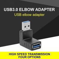 USB 3.0 адаптер 90 градусов угол 4 направления варианты USB мужчина до женского преобразователя высокой скорости передачи адаптеров