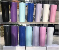 2020 NEW 20oz rainbow Skinny Tumbler Stainless Steel sparkle...