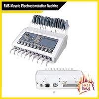 EMS العضلات مشجعا كهرباء آلة الأمواج الروسية EMS العضلات الكهربائية مشجعا عشرات ems التخسيس آلة لسالب صالون