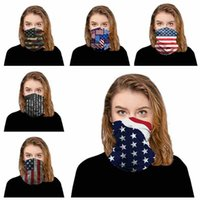 8 أنماط باندانا قناع الوجه 3D علم الولايات المتحدة الأمريكية ماجيك الأوشحة الرياضة في الهواء الطلق ركوب الدراجات العصابة العمامة الحجاب موضة مناديل CYZ2552 200PCS