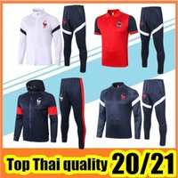 2021 Fussball Trainingsanzug Jacke 20/21 Survêtement de Football Mbappe Pogba Griezmann Training Anzug Polo Shir