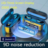 سماعات TWS سماعات لاسلكية بلوتوث V5.1 سماعات ستوديو سماعات استوديو مع شاشة LED تعمل باللمس تشغيل سماعات رياضية مع مقاوم للماء