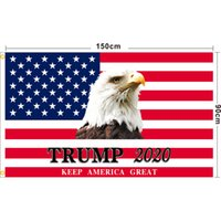 90 * 150cm Trump 2020 bandeiras 3 * 5ft presidente americano bandeiras eleitoras Mantenha a América Grande Bandeira Jardim Bandeiras EUA Bandeira Bandeira Frete Grátis