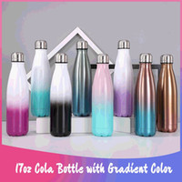 8 Colors Gradient 17oz Cola Shaped Water Bottle with Leakpro...