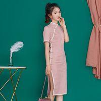 Tradicional China Mujeres Qipao del verano del vestido del estilo chino joven mejorado vestido oriental estudiantes cheongsam de la manera Niñas