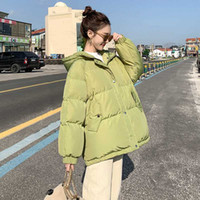 Hooded cotton jacket women Korean version loose winter new H...