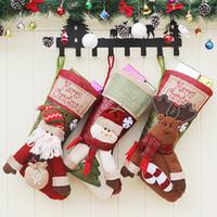 Presente meia do Natal Bolsas Árvore de Natal Meia de Natal dos doces de armazenamento festivo do partido Bag Suprimentos Xmas Decoração Bag Atacado
