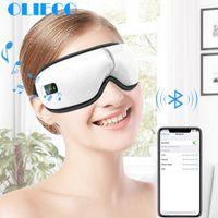 Перезаряжаемый Eye Therapy Массажер электрический Bluetooth Music Eye Массаж SPA складная Давление воздуха Отопление глаз Усталость Сбросьте CX200720