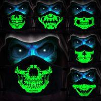 Череп Маска трехмерной светящаяся маски личность теплый ветрозащитный против пыли маски Дизайнерских Масок T2I51231