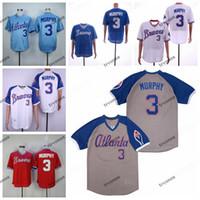 NCAA MENS Vintage 1995 Dale Murphy Beyzbol Formalar Koleji Kırmızı Dale Murphy Mavi Beyaz Örgü Dikişli Gömlek M-XXXL