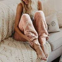 Scaldano i pantaloni di peluche Sonno Bottoms di Lybofly 5XL inverno delle donne degli indumenti Pantalone lungo donne Solid Lounge di Loungewear da notte Donne
