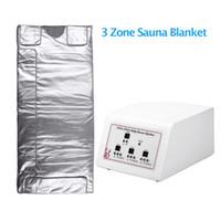 3 Zonas infravermelho Drenagem Linfática Slimming Sauna Blanket Detox Máquina Digital Far-Infrared (FIR) de calor Sauna Blanket para venda