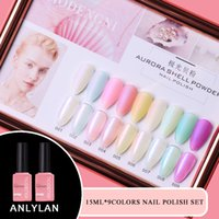 15ml 9pcs Gel Rosa smalto del gel del chiodo della vernice di colore Soak cappotto vernice UV Base No Wipe Polish Set