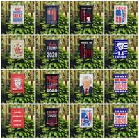nuovi 16 stili 2020 Banner nella manica bandiera americana elezioni presidenziali campagna vincente slogan cortile Banner Bandiere giardino bandiera 45 * 30CM T2I51225