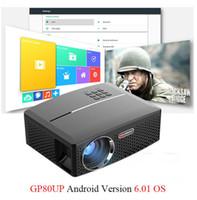Gp80 GP80UP LED tragbare Mini-Projektor Heimkino-Unterstützung Full HD 1080P 4K Optional Android Bluetooth drahtlose WIFI Beamer 1pcs