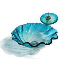 bathroom artistic glass vessel sink hand painted glass sink ...