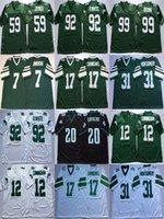 NCAA Brian Dawkins Jersey Ron Jaworski Randall Cunningham Harold Carmichael Seth Joyner retro del fútbol jerseys para hombre cosido Blanco Verde