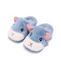 Slipper Winter Nette Eichhörnchen Kinder Hausschuhe Komfortable Baby Warme Baumwolle Schuhe Jungen und Mädchen Haus Indoor Tier 2021 Plüsch