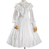 NEW westlichen Frauen, Frühling, Sommer Lolita Chiffon-Kleid Tagesweinlese Medieval Gothic Kleid weibliche Spitze-Partei-Court Two-Piece