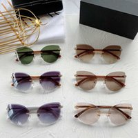 Factory Price Sexy Cat Eye Sunglasses Oval Butterfly Frame Various eyewear Colors Optional alloy frameless eyeglass high-end women sunglass