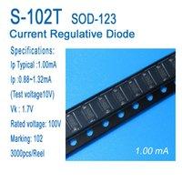 Постоянный ток диода, ток диода регулятивная, CRD, S-102T, СОД-123, СМД, типично 1,0 мА, применяется для датчиков, приборов