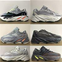2020 de calidad de los zapatos corrientes 700 zapatillas de corredor de la onda Kanye West carbono azul V2 Tefra Raffles Utilidad Negro estáticas para hombre deportes de las mujeres zapatillas de deporte