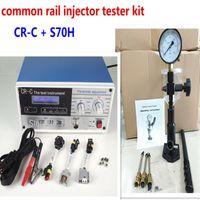 Combinação! CR-C diesel common rail injector multifunções tester + S70H Bico Validador, common rail ferramenta testador de Injector