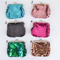 Mermaid Sequins Coin Borsellino Magic Sequin Glitter Pochette Borsa Mini Portafogli Borsa Moda Girls Coin Pocket Pocket Little Borse Trucco Regalo di Natale
