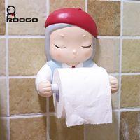 Roogo Cartoon Dream Girl Porte-papier hygiénique résine salle de bains Décoration Accessoires Creative Belle Porte-serviette