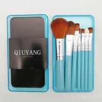 7pcs Mini Makeup Brush Sets Cosmetics Make Up Brushes Set Kit brocha de maquillaje DHL Shipping
