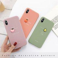 اي فون 11 حالة الأفوكادو رسالة لينة حالة الهاتف لفون برو 11 XS MAX XR X سيليكون حالة فون 7 زائد الغلاف 3D لون كاندي