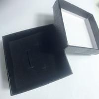 7.5 * 3,5 cm Mode High-Grade Schmuck Box Einfache Schwarz Quadratischer Schwamm Geschenk Box C Schmuck Aufbewahrungsbox Himmel und Erdbeugung 6pcs / lot Samcc
