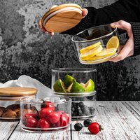 Mutfak Organizatör Home için Kapak Minimalist Depolama Şişe Nut baharat Kabı ile üç Kat Cam Depolama Kavanoz Şişe