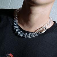 Caractéristique Design transparent acrylique cubain lien chaîne Hip Hop New Collier Homme Party et le Club