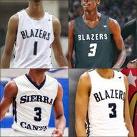 NCAA Benutzerdefinierte Sierra Canyon Basketball Jersey High School Jeder Name Nummer 0 Bronny James 15 Terren Frank 2 Zaire Wade 10 Bailey