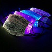 7 لون LED Lumions الألياف قناع تغيير RGB الخفيفة مع PM2.5 تصفية الوسادة كرنفال تنكر حزب قناع الوجه LED الألياف البصرية قناع CCA12321